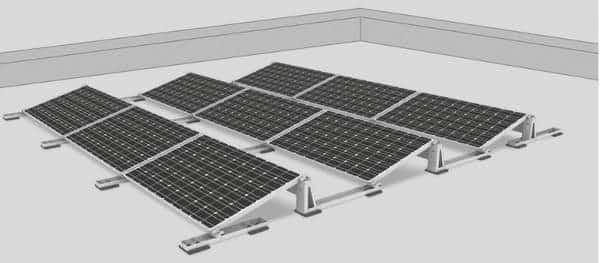 Système de montage de panneaux solaires sur toit plat