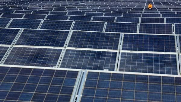 Panneaux solaires sur un hôpital